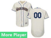 Mens Majestic Seattle Mariners Cream Flex Base Jersey