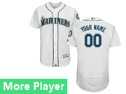 Mens Majestic Seattle Mariners White Flex Base Jersey