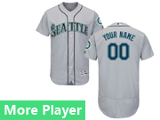 Mens Majestic Seattle Mariners Gray Flex Base Jersey
