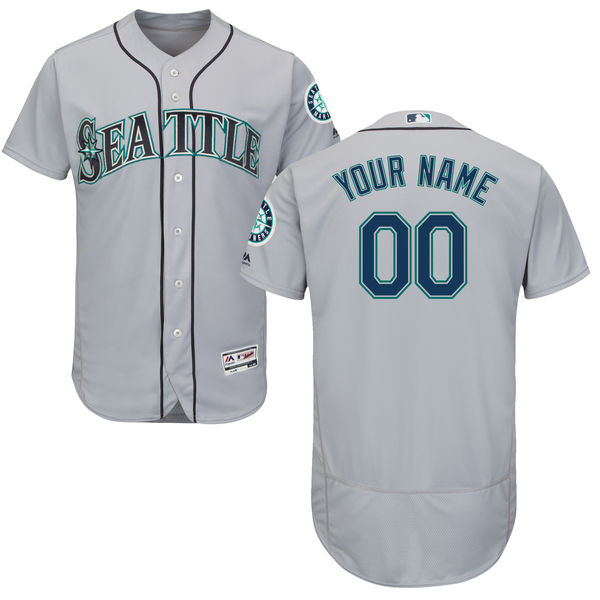 Mens Majestic Seattle Mariners Gray Flexbase Collection Jersey