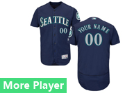 Mens Majestic Seattle Mariners Navy Blue Flex Base Jersey