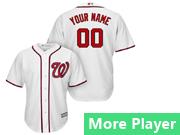 Mens Majestic Washington Nationals White Cool Base Jersey
