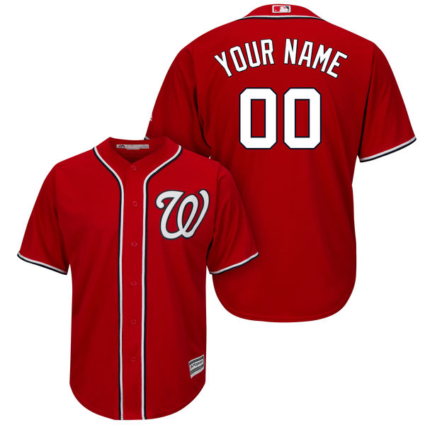 Mens Majestic Washington Nationals Red Cool Base Jersey
