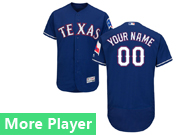 Mens Majestic Texas Rangers Blue Flex Base Jersey