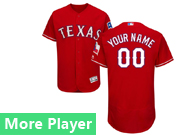 Mens Majestic Texas Rangers Red Flex Base Jersey