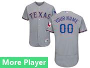mens majestic texas rangers gray Flex Base jersey