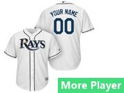 Mens Majestic Tampa Bay Rays White Cool Base Jersey