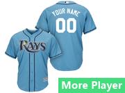 Mens Majestic Tampa Bay Rays Blue Cool Base Jersey