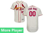 Mens Majestic St. Louis Cardinals Cream Flex Base Jersey