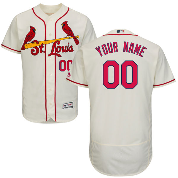 Mens Majestic St. Louis Cardinals Cream Flex Base Jersey