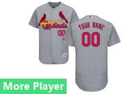 Mens Majestic St. Louis Cardinals Gray Flex Base Jersey