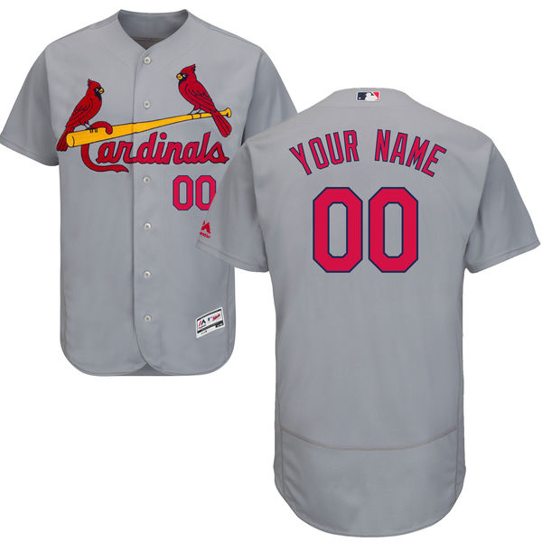 mens majestic st. louis cardinals gray Flex Base jersey