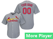 Mens Womens Youth Majestic St. Louis Cardinals Gray Cool Base Jersey