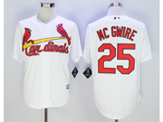 Mens Mlb St.louis Cardinals #25 Mark Mcgwire White Jersey