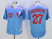 Mens Mlb Montreal Expos #27 Vladimir Guerrero Blue 2000 Throwbacks Jersey