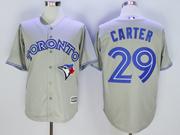 Mens Mlb Toronto Blue Jays #29 Joe Carter Gray Jersey