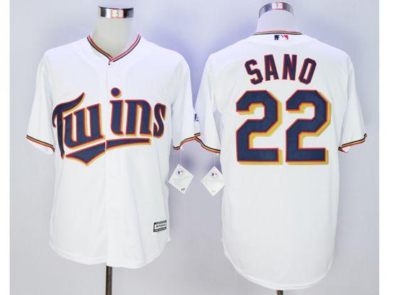 Mlb Minnesota Twins #22 Miguel Sano White Jersey