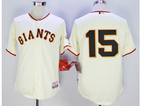 Mens Mlb San Francisco Giants #15 Bruce Bochy Cream Jersey