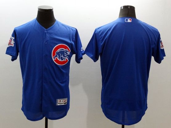 mens majestic chicago cubs blank blue Flex Base jersey