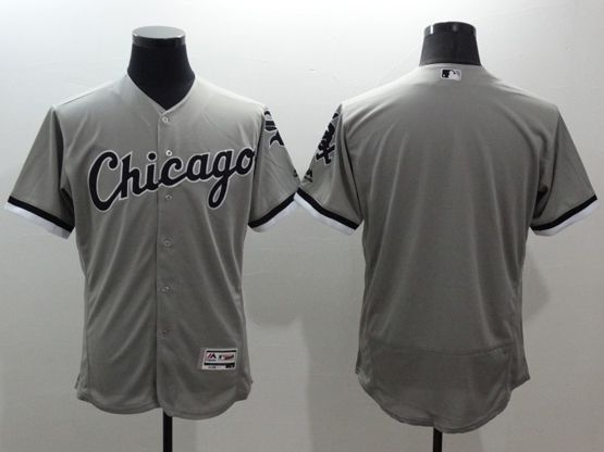mens majestic chicago white sox blank gray Flex Base jersey