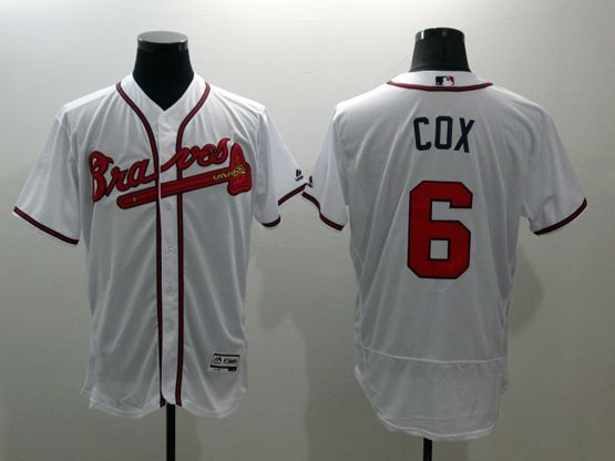 mens majestic atlanta braves #6 bobby cox white Flex Base jersey