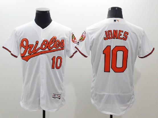 Mens Majestic Baltimore Orioles #10 Adam Jones White Flexbase Collection Jersey