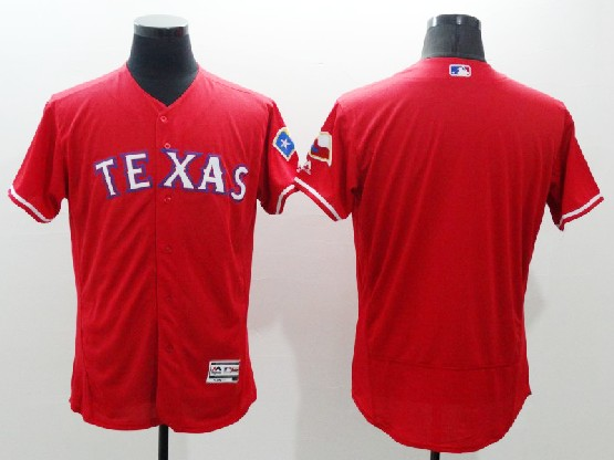 Mens Majestic Texas Rangers Blank Red Flexbase Collection Jersey