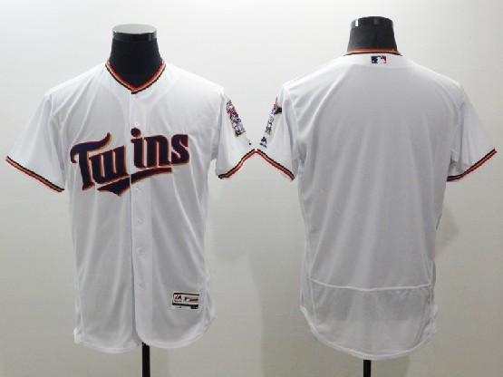 Mens Majestic Mlb Minnesota Twins Blank White Flexbase Collection Jersey