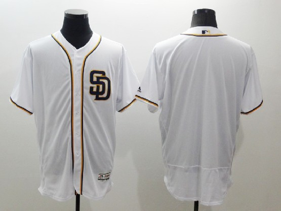Mens Majestic Mlb San Diego Padres Blank White Flexbase Collection Jersey