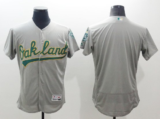 mens majestic mlb oakland athletics blank gray Flex Base jersey