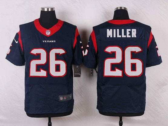 Mens Nfl Houston Texans #26 Lamar Miller Blue Elite Jersey
