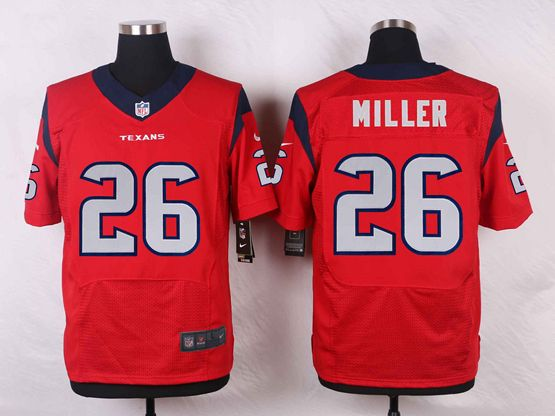Mens Nfl Houston Texans #26 Lamar Miller Red Elite Jersey