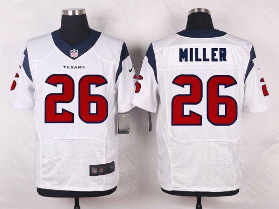 Mens Nfl Houston Texans #26 Lamar Miller White Elite Jersey