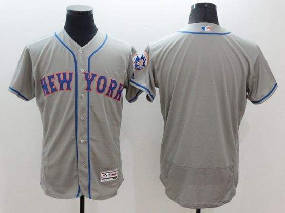 Mens Majestic New York Mets Blank Gray Flexbase Collection Jersey