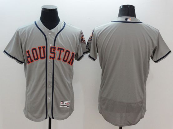Mens Majestic Houston Astros Blank Gray Flexbase Collection Jersey