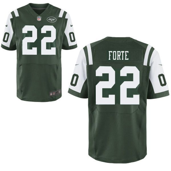 Mens Men Nike New York Jets #22 Matt Forte Green Elite Jersey