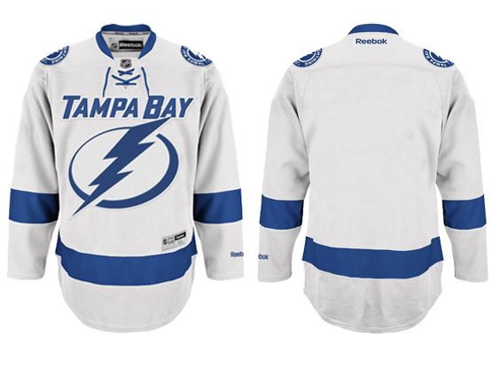 Mens Reebok Nhl Tampa Bay Lightning Blank White Away Jersey