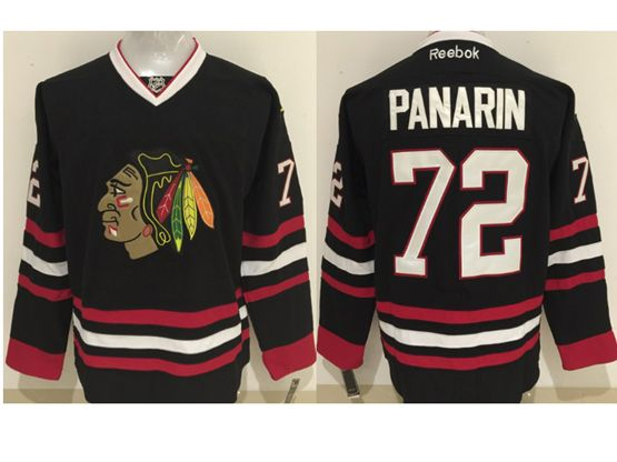 Mens Reebok Nhl Chicago Blackhawks #72 Panarin Black (2014 New) Jersey