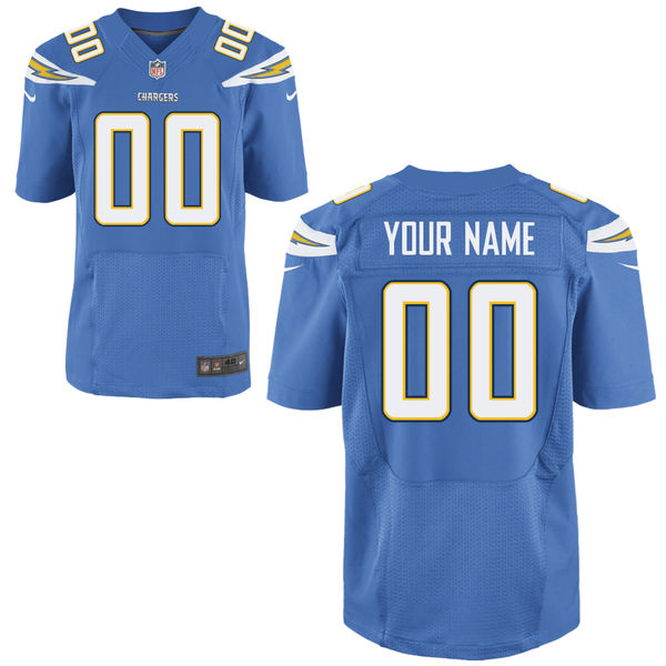 Mens Nike San Diego Chargers Light Blue Elite Jersey