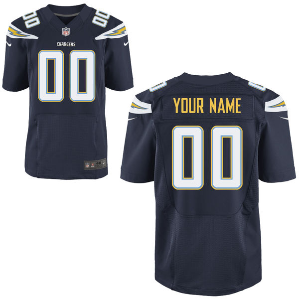 Mens   San Diego Chargers Navy Blue Elite Jersey