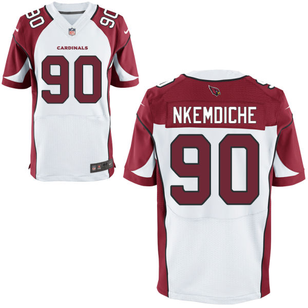Mens Nfl Arizona Cardinals #90 Robert Nkemdiche White Elite Jersey
