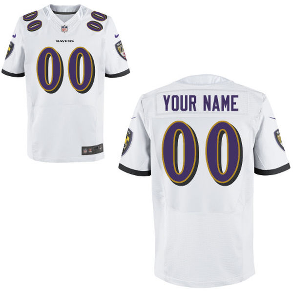Mens   Baltimore Ravens White Elite Jersey