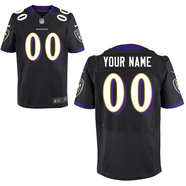 Mens Baltimore Ravens Black Elite Jersey