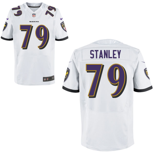 Mens Nfl Baltimore Ravens #79 Ronnie Stanley White Elite Jersey