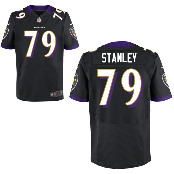 Mens Nfl Baltimore Ravens #79 Ronnie Stanley Black Elite Jersey