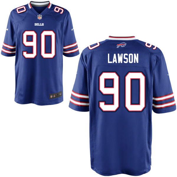Mens Nfl Buffalo Bills #90 Shaq Lawson Blue Elite Jersey