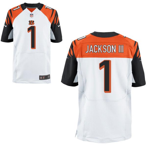 Mens Nfl Cincinnati Bengals #1 William Jackson White Elite Jersey