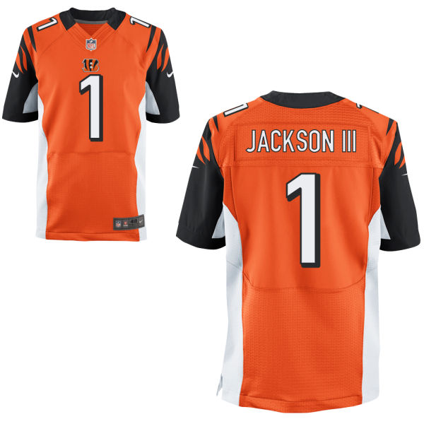 Mens Nfl Cincinnati Bengals #1 William Jackson Orange Elite Jersey