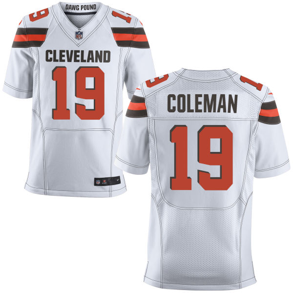 Mens Nfl Cleveland Browns #19 Corey Coleman White Elite Jersey