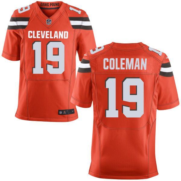 Mens Nfl Cleveland Browns #19 Corey Coleman Orange Elite Jersey